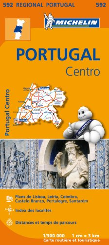 Carte Portugal Centre Michelin par Collectif MICHELIN