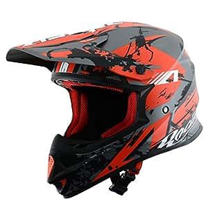 Astone Helmets Casque MX 600 Giant Glitter, Rouge, M