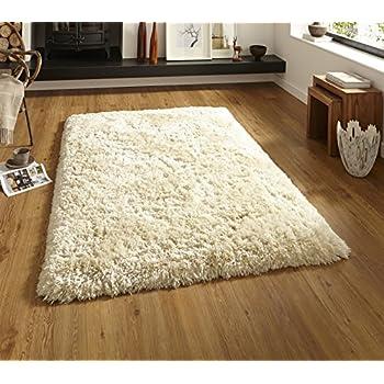 think rugs polar pl 95 shaggy hand tufted rug cream 120 x 170 cm