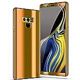 Samsung Galaxy Note 9 Hülle, 3 in 1 Ultra Dünner Glatt Hard PC Oberfläche 360 Komplett Anti-Kratzer Bumper Cover für Samsung Galaxy Note 9 (Note 9, Gold)