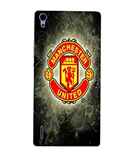 For Huawei Ascend P7 Football, Red, Game Pattern, Lovely Pattern, Printed Designer Back Case Cover By CHAPLOOS