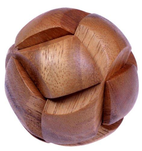 Ball - 3D Puzzle - Denkspiel - Knobelspiel - Geduldspiel - Logikspiel aus Holz