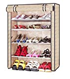 #10: KGBUZZ Four Layer Printed Shoe Rack/Shoe Shelf/Shoe Cabinet,Easy Installation Stand For Shoes-Multicolor