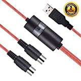 Cavo USB Midi Interface, Oibtech laptop professionale MIDI a USB in-out cavo convertitore per PC/MAC/laptop 2 m (2 m), MIDI CABLE RED