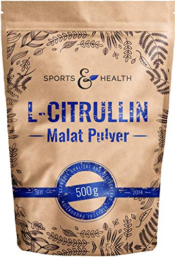 L-Citrullin-Malat Pulver als 500g Citrulin Pulver in einem Perfekten 2:1 Verhältnis mit extra Dosierlöffel durch Made In Germany