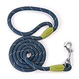 Gouzai Pet Liefert Hundeleine Kleine Große Hundeleine Reflektierende Hundeleine Haustier Lead Dog Tie Harness Nylon Laufband (Farbe : Marine, größe : L 1.2 x 120CM)