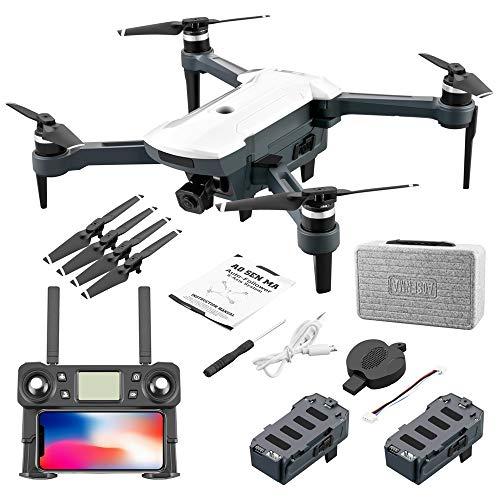 HSKB CG028 GPS Drohne mit 4K HD Dual Kamera 110 ° Weitwinkel GPS 5G WiFi FPV Brushless Motor RC Quadrocopter Faltbare Drohnen Professionelle Follow Me mit 2pcs 11,1 V 1500 mAh Batterie Tragetasche