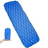 D&S Vertriebs GmbH - Materassino isolante ultraleggero, gonfiabile, ideale per campeggio, viaggi, attività all'aperto, escursioni, spiaggia