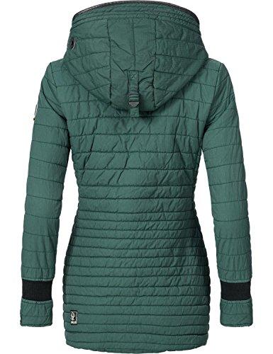 Khujo Damen Jacke Winterjacke Steppjacke Retro-Midd 4 Farben XS-XXL Forest Green