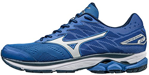 Mizuno Wave Rider 20 Scarpe Running Uomo, Blu (Nautical Blue/white/dress Blues), 43 EU