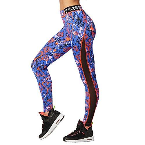 Zumba Fitness Diamond Diva Panel Ankle Leggings So Into Blue XS | 00888562164008