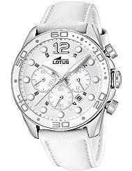 Lotus 15782/1 - Reloj analógico de cuarzo para mujer con correa de piel, color blanco