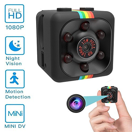 Ultra-Kleine Mini Kamera Mocrux Tragbare Kamera (Schwarz 3) (Kapazität Licht Hohe)