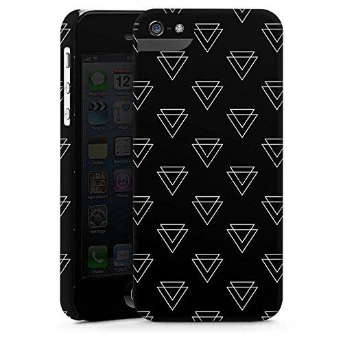 Apple iPhone 5 Tasche Hülle Flip Case Dreieck Geometrisch Muster Premium Case StandUp