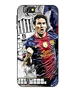 Case Cover Messi Printed Multicolor Soft Back Cover For LYF Wind 5