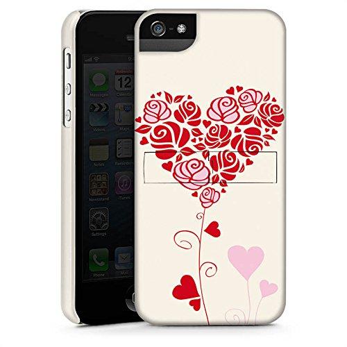 Apple iPhone X Silikon Hülle Case Schutzhülle Muster Rosen Herz Love Premium Case StandUp