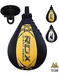 RDX MMA Peras Boxeo Pera Velocidad Bola Rapida Speed Bag Entrenamiento Gimnasio