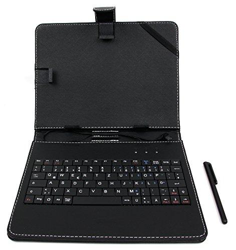 DURAGADGET Deutsche Tablet-Tastatur mit QWERTZ-Layout für Ihr 8 Zoll Medion Lifetab S7851 / S7852 - Farbe: Schwarz
