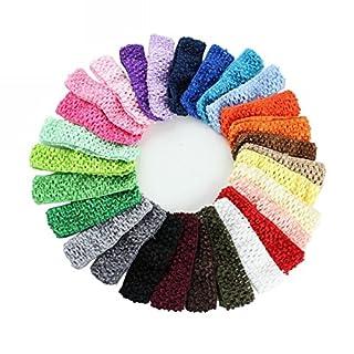 WINOMO 24St elastischem Crochet Haarband Stirnbänder Haargummis für Baby Girls Kleinkind