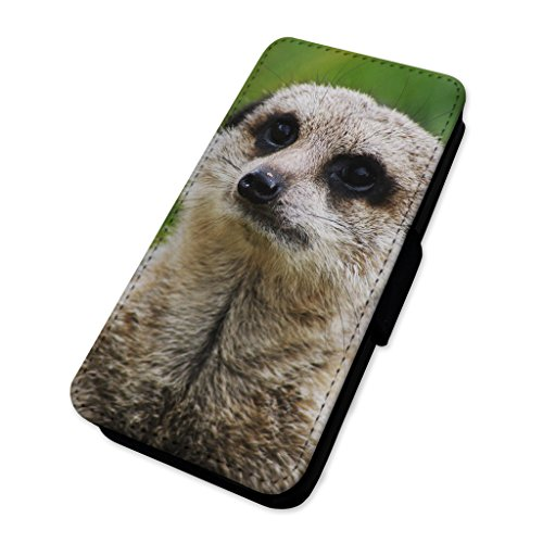 Meerkat Animal – Custodia ad aletta in pelle copertura di carta Apple iPhone 5C