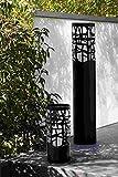 SUMMER/Lanterna a vento con vetro, pilastro, Pesante A.32cm, (D) . 16cm