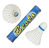 #6: VOXAMIN BT-10 Besto Strong Feather Badminton Shuttlecocks (pack of Ten).