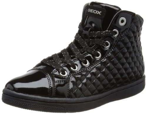 Geox J Creamy B, Baskets mode fille Noir (Black)