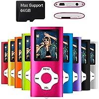 Mymahdi Lettore portatile MP3 / MP4 di , dentellare con lo schermo dell'affissione a cristalli liquidi da 1.8 pollici e la fessura per carta di memory card, supporto massimo di memory card TF di 128GB