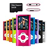 Mymahdi - Digital, Compact et Portable Lecteur MP3/MP4 (Max Support 64 GB) avec Photo Viewer, E-Book Reader et Radio FM Enregistreur Vocal et vidéo vidéo en Rose ...