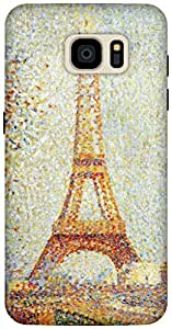 The Racoon Grip Eiffel Tower - Seurat hard plastic printed back case / cover for Samsung Galaxy S7