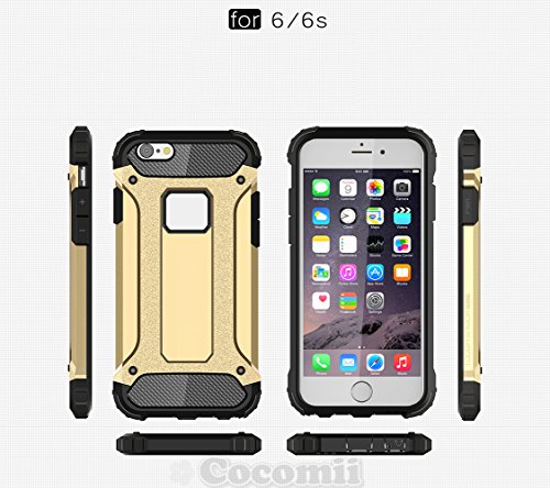 iPhone 6S / 6 Hülle, Cocomii Commando Armor NEW [Heavy Duty] Premium Tactical Grip Dustproof Shockproof Hard Bumper Shell [Military Defender] Full Body Dual Layer Rugged Cover Case Schutzhülle Apple ( Silver