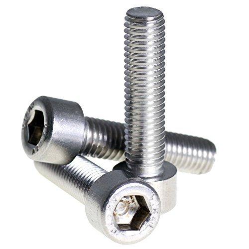 Bolt Base 1.6mm A2 aus rostfreiem Stahl Sechskantschraube Zylinderschraube DIN 912 M1.6 X 6 - 100