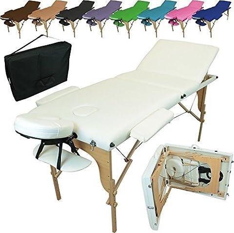 Table De Massage Pro Luxe Pliante Confort 3 Zones - Linxor France ® Table de massage pliante