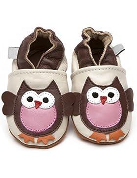 Zapatos de piel de Luxe para bebé búho