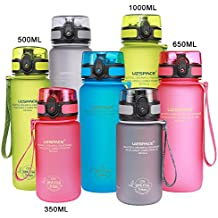 UZSPACE Sports Water Bottle-32oz 1000ml Large Flip Top Leak Proof Lid with One Click Open - Non-Toxic BPA Free & Eco-Friendly Tritan Co-Polyester Plastic