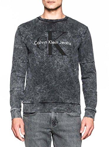 CALVIN KLEIN J30J300564 HINTER BLACK FELPA Uomo BLACK XL