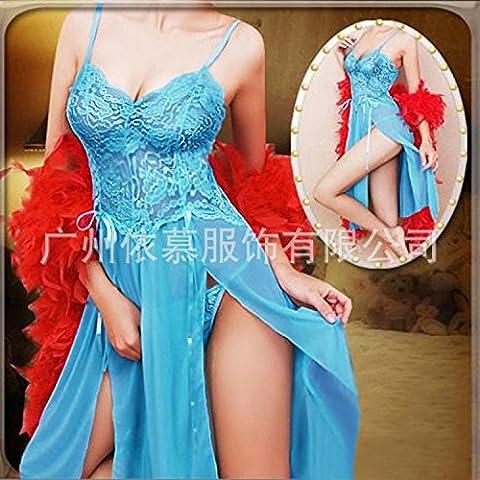 Euramerican vestido extra grande lencería ,AZUL,XXXL