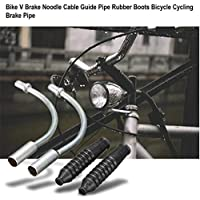 Bike V Brake Noodle Cable Guide Pipe Botas de goma Mountain Road Bicicleta Ciclismo Outdoor Bicycle Brake Pipe + Sliver
