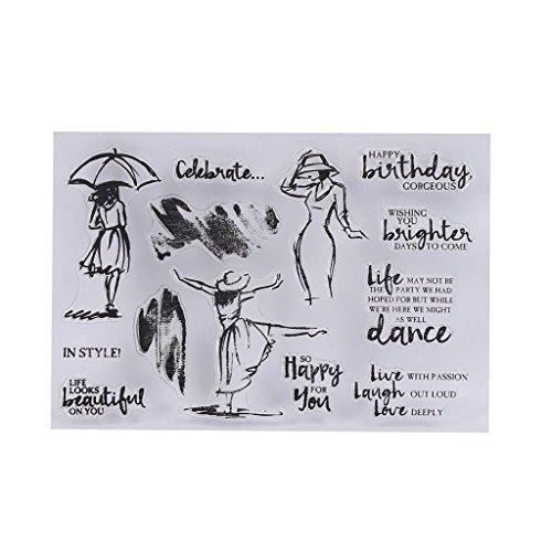 naisicantar SC Serie Transparent Silikon Siegel Stempel sterben Formen für DIY Handgefertigtes Fotoalbum Scrapbooking Papier Card Craft–Markennamen
