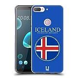 Head Case Designs Isländische Fahne Fahnen Flicken Soft Gel Hülle für HTC Desire 12 Plus