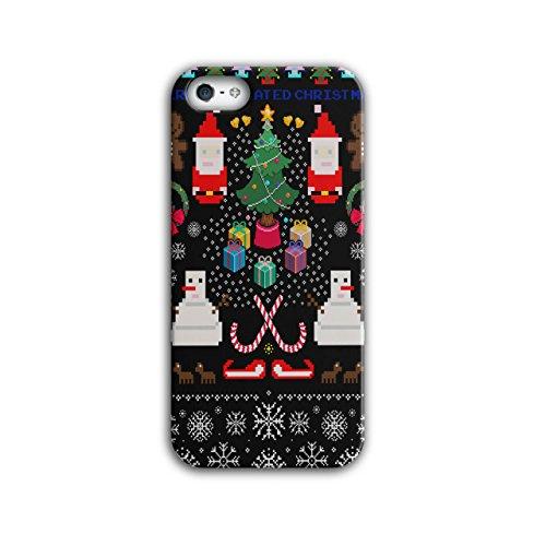 Weihnachtsmann Schneemann Weihnachten Pixel Weihnachtsmann iPhone 5 / 5S Hülle | (Frau Schneemann Kostüme)