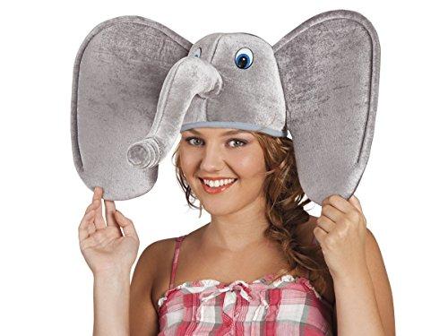 Alsino Tierhut Karneval Chicken Schaf Mütze Schweinemütze Wolfhut Fasching Kopfbedeckung, wählen:Elefant (Kostüme Verrückteste)
