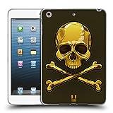 Head Case Designs Gold Totenkopf mit Gekreuzten Knochen Soft Gel Hülle für Apple iPad Mini 1/2/3