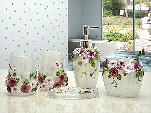 MIAORUI artisanat / résine toilettes laver la résine trousse cinq pièce / mariage