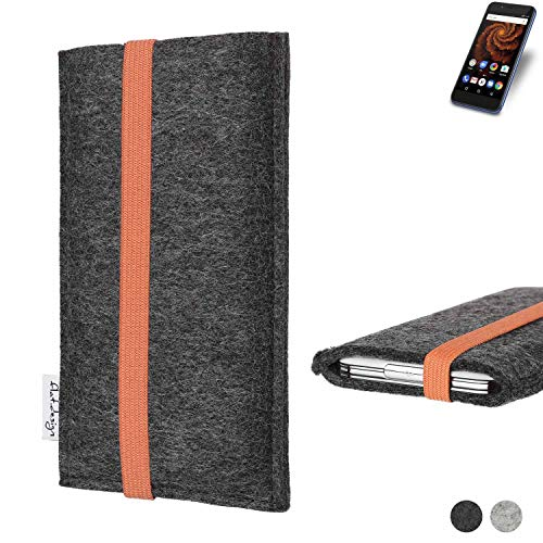 flat.design vegane Handy Tasche Coimbra für Allview X4 Soul Mini S - Schutz Case Tasche Filz vegan fair orange