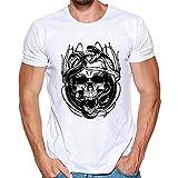 HoSayLike T-Shirts à Manches Courtes Hommes T-Shirt Top Sweatshirt Sweater col Rond Manche Courte-Shirt...