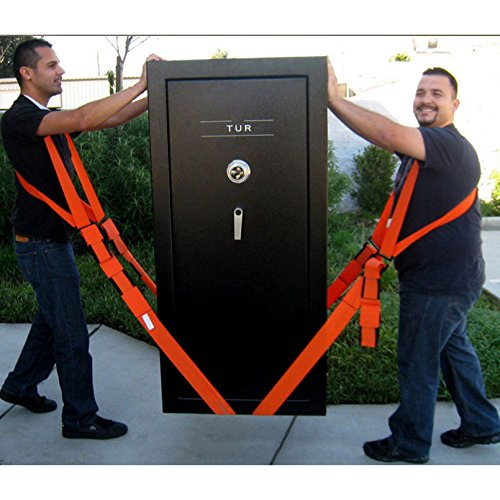 Cintura per sollevamento, facile da spostare, solleva, trasporta e mette in sicurezza complementi d'arredo, apparecchi o qualsiasi oggetto pesante. cinghie e imbracature per 2 persone.