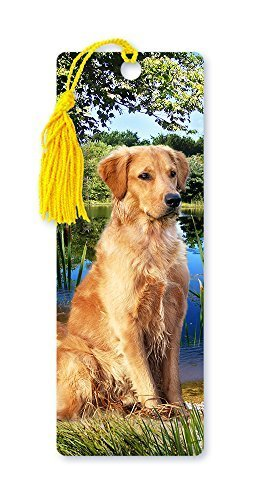 dimension-9-3d-lenticular-bookmark-with-tassel-golden-retriever-pet-breed-series-lbm042-by-dimension