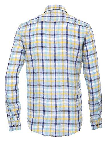 CASAMODA Herren Businesshemd 441925300 Casual Fit bügelleicht Blau