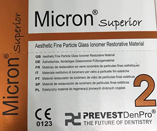 Radiopaque Glass Ionomer Dental Cement A2 Natural Shade for permanent dental restorations 30 Plus Repairs